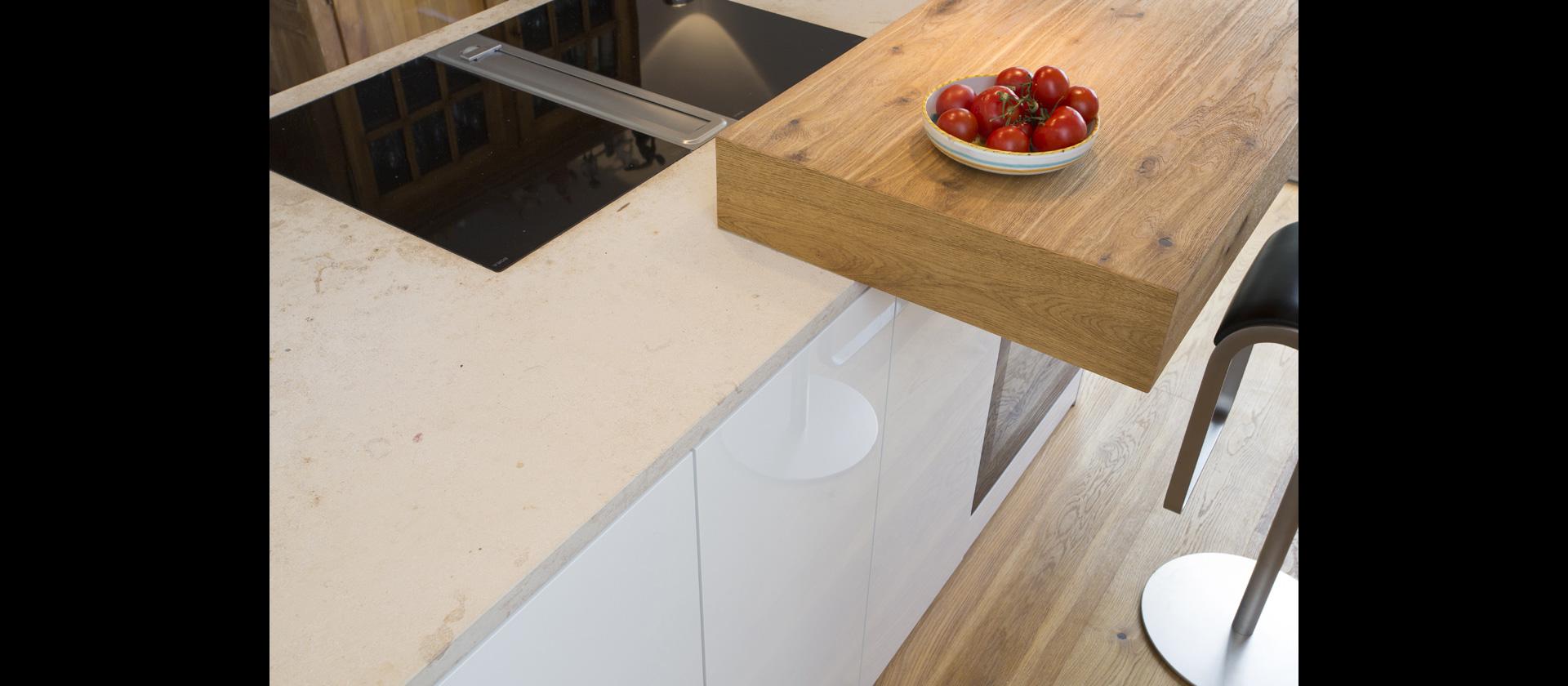 mtb k che mit freiem block bora professional abluft im bodenkanal verlegt. Black Bedroom Furniture Sets. Home Design Ideas