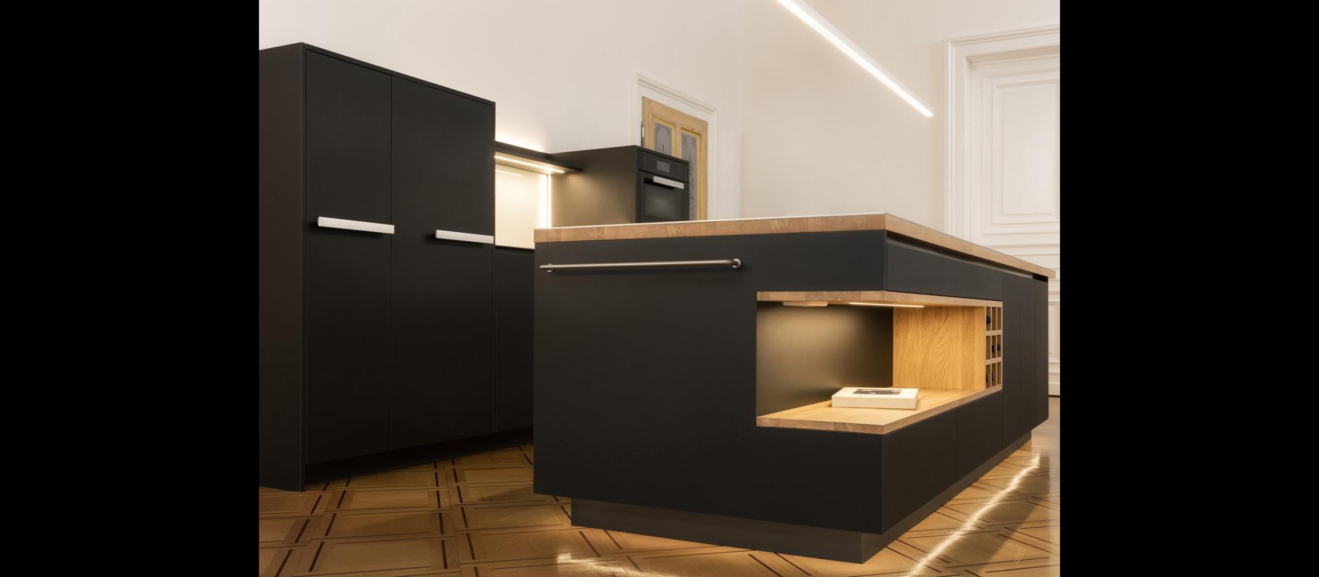 gro artig k che schwarz zeitgen ssisch die besten wohnideen. Black Bedroom Furniture Sets. Home Design Ideas