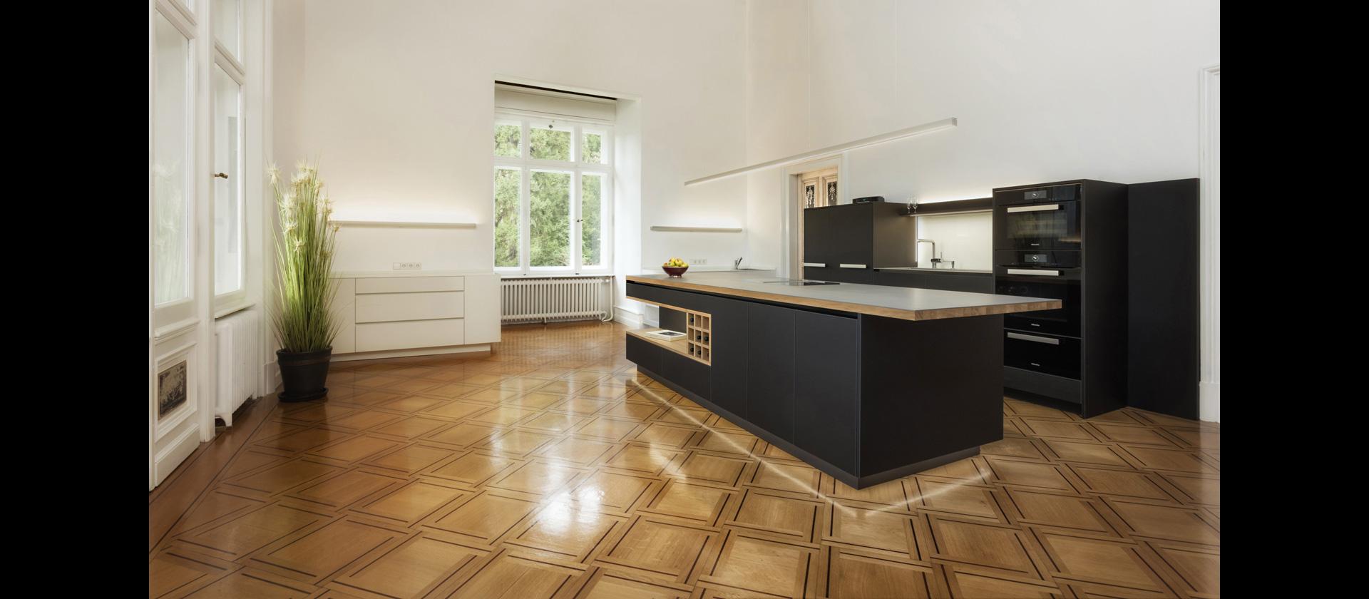 MTB-Küche Lino Edelstahlarbeitsplatte